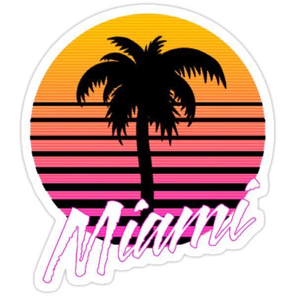 'Miami' Sticker by sophiapetrillo