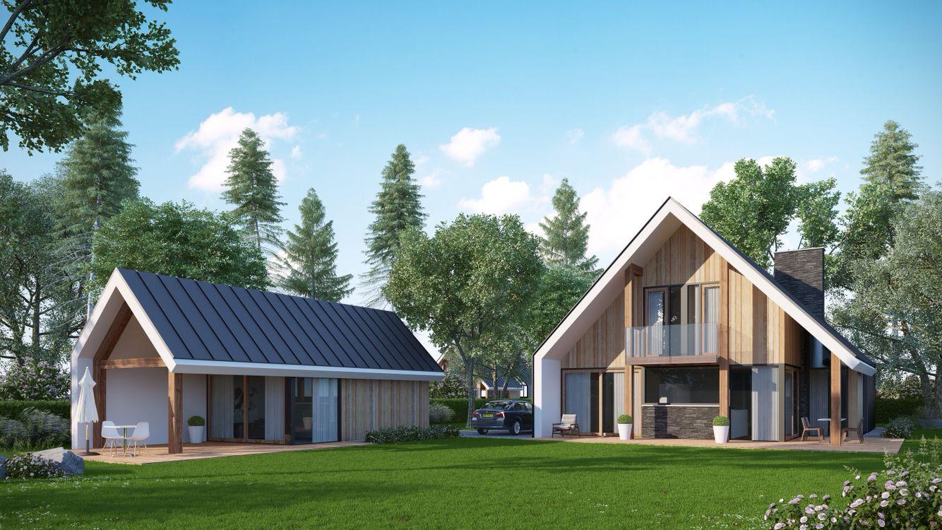 Landelijk moderne villa schuurwoning loftwoning buitenhuis for Moderne villabouw