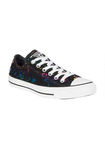 950a5b42965c Converse Ox Galaxy Print - Sneakers - Shoes - dELiA s Though this looks  more like black lace over a multi colored background than galaxy print.