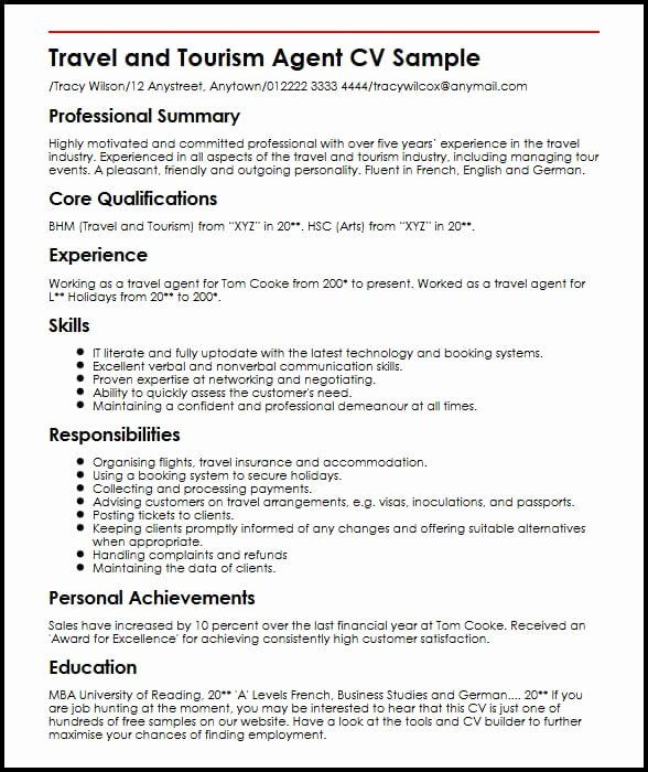 Ramp Agent Job Description Resume Best Of Travel Booking