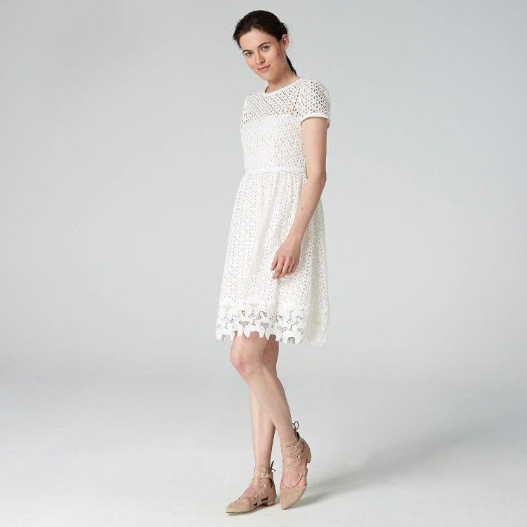 100% Zufriedenheit billiger Verkauf tolle Preise Kleid mit Lochstickerei #HALLHUBER | Mode | Kleider, Weißes ...