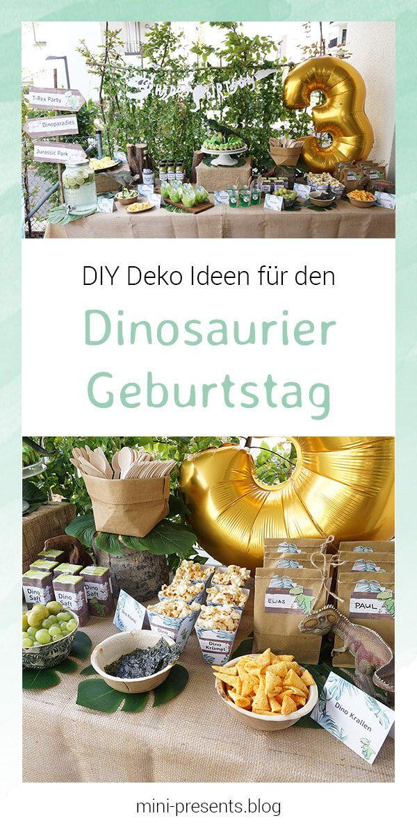 Do-it-yourself Party Deko für eine Dino Party zum Kindergeburtstag