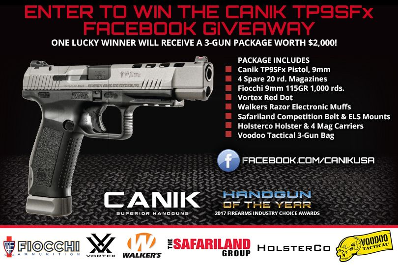 Canik TP9SFx 3-Gun Package Giveaway | Sweepstakes and Giveaways