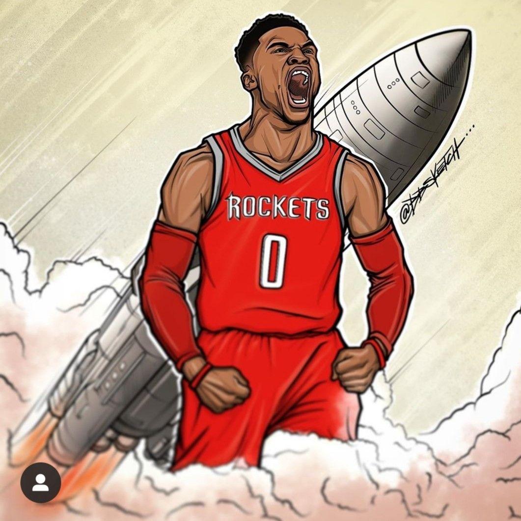 RUSSEL WESTBROOK Houston Rockets POSTER Russel westbrook canvas print art