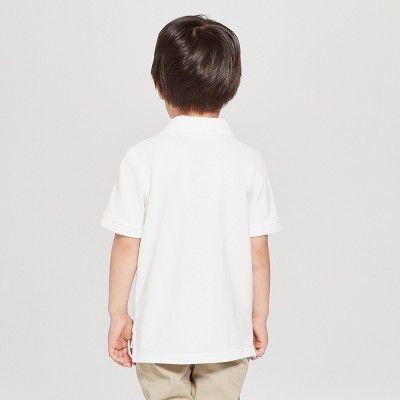 c83db951c Toddler Boys' Short Sleeve Pique Uniform Polo Shirt - Cat & Jack White 4T