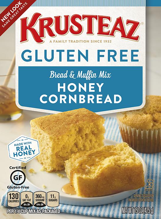 Gluten Free Honey Cornbread Muffin Mixes Krusteaz Krusteaz Gluten Free Honey Cornbread Gluten Free Cornbread Mix