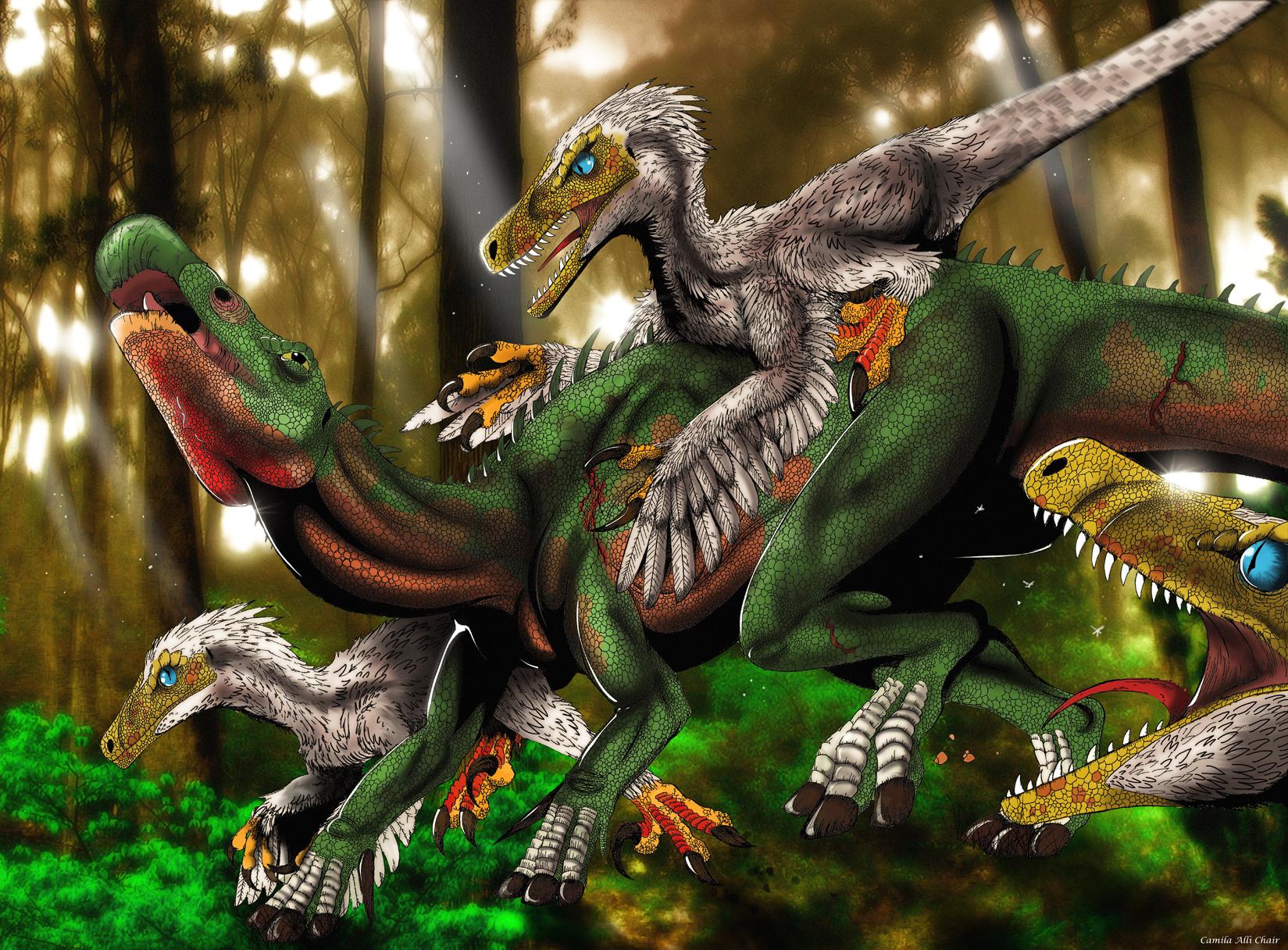 Deinonychus Vs Iguanodon By Camila Alli Chair Iguana