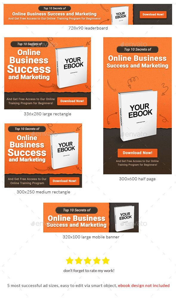 Ebook banner ad template web banners banners and template ebook banner ad template pronofoot35fo Choice Image