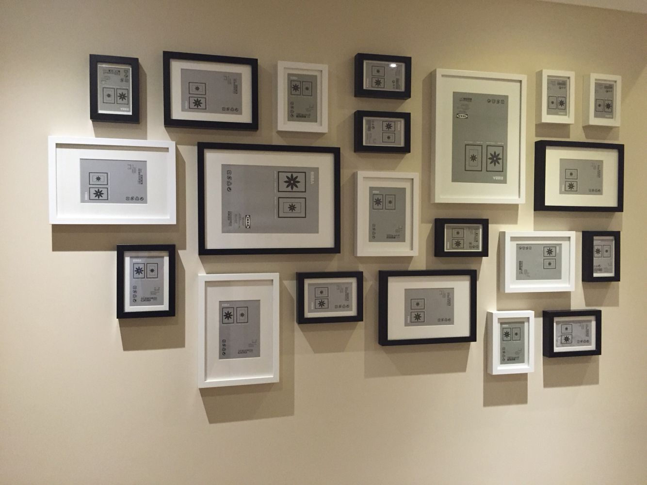 ikea ribba frames layout black and white | gallery wall in 2018