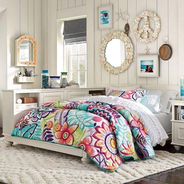 Idée déco chambre de fille ado – literie à motifs floraux | Les ...