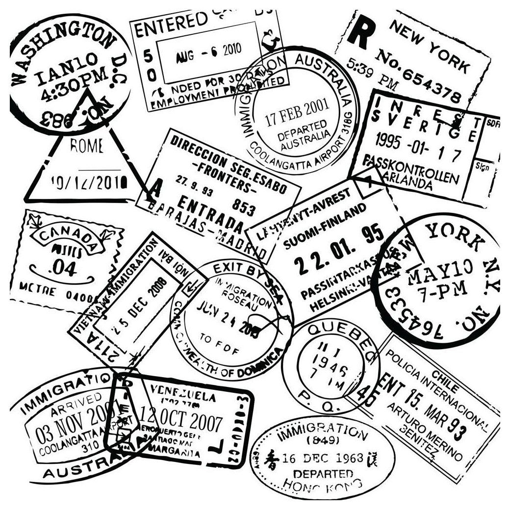 Passport Stamp Wall Decal Set Generic Spain Passport Stamp Spainpassportstamp Passport Stamp Wall D Travel Stamp Passport Stamps Vintage Postcards Travel
