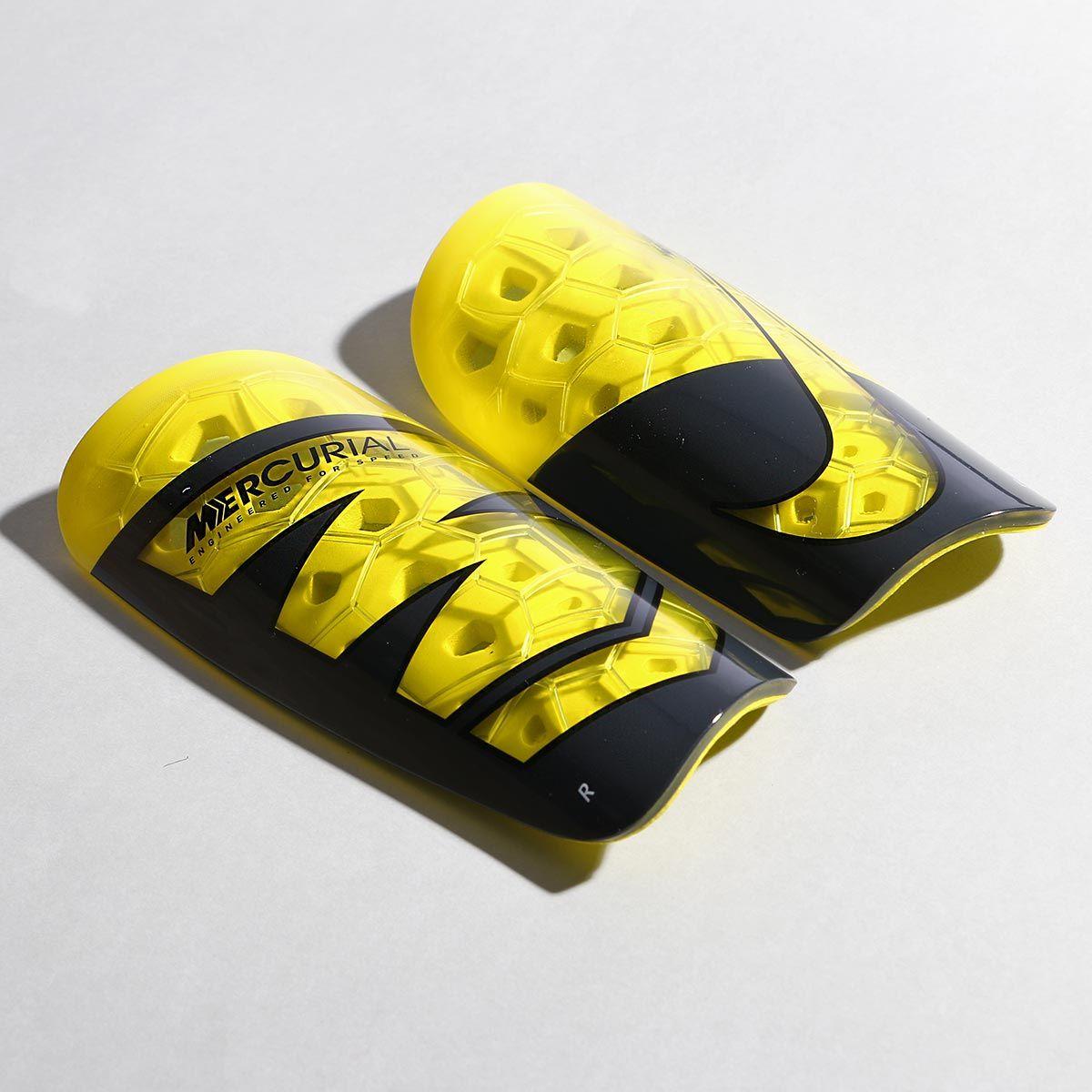 defecto enchufe Cereal  Espinilleras de fútbol Nike con mallas de sujeción - amarillas y ...