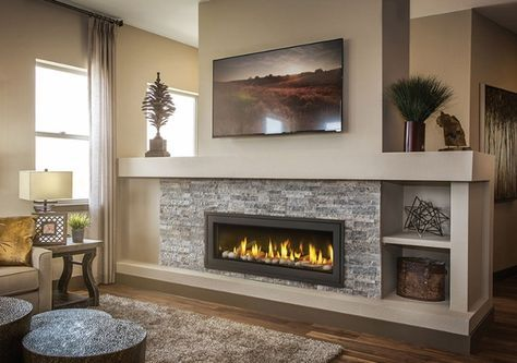 Amazing Linear Gas Fireplace Pictures