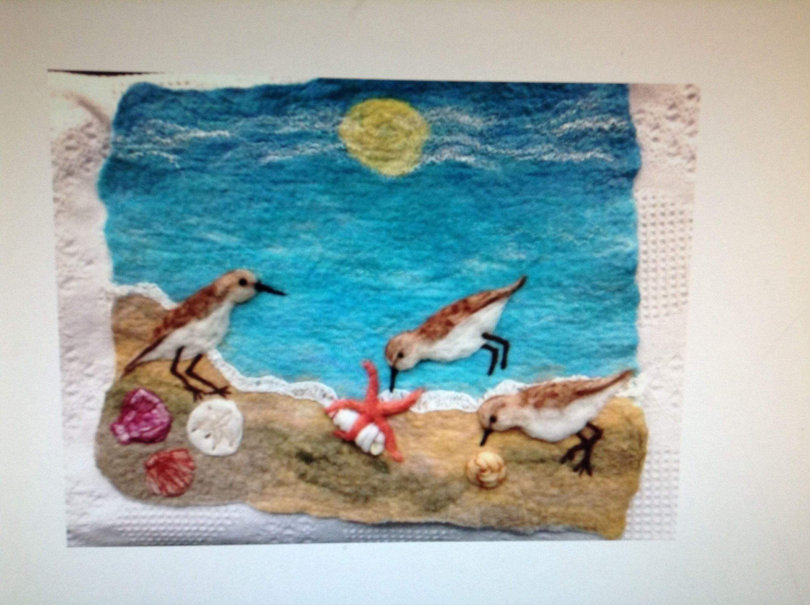 Felt wall hanging Pipers Beach Lunch Will