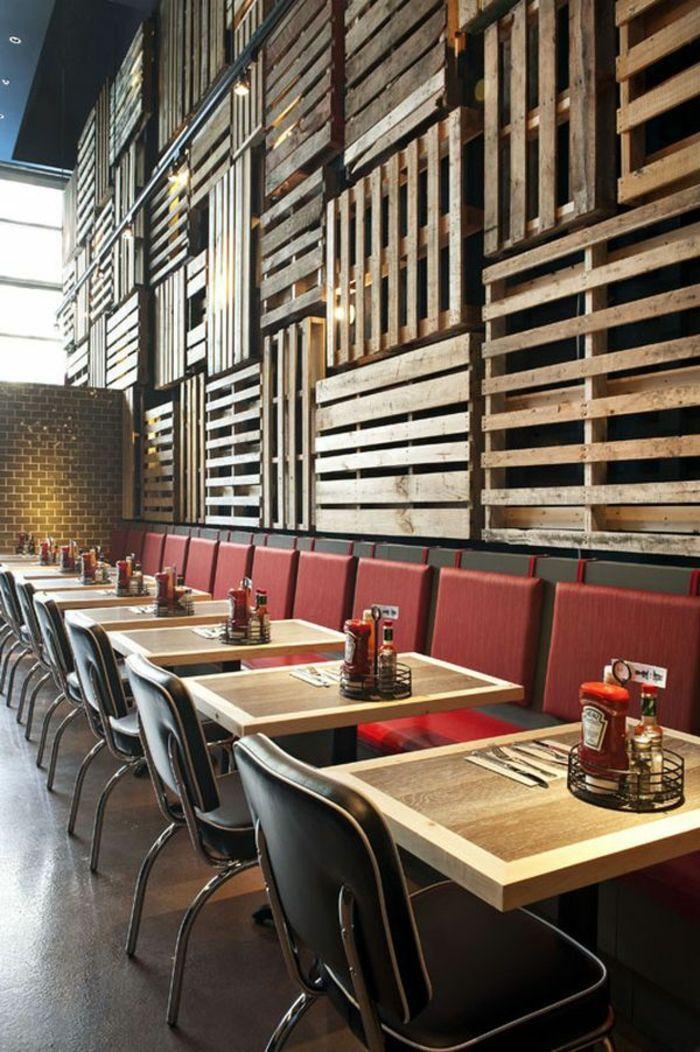Möbel Aus Paletten Wandverkleidung Holz Diy Ideen   Essen Und
