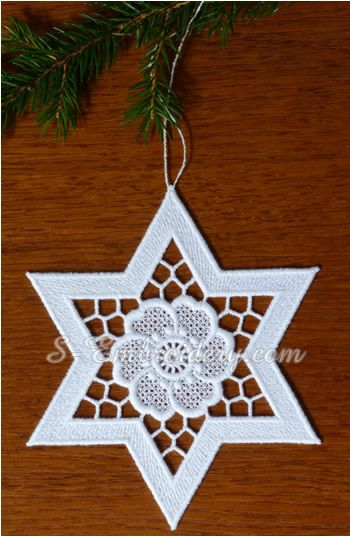 10631 Free standing lace and cutwork star ornaments | Richelieu ...