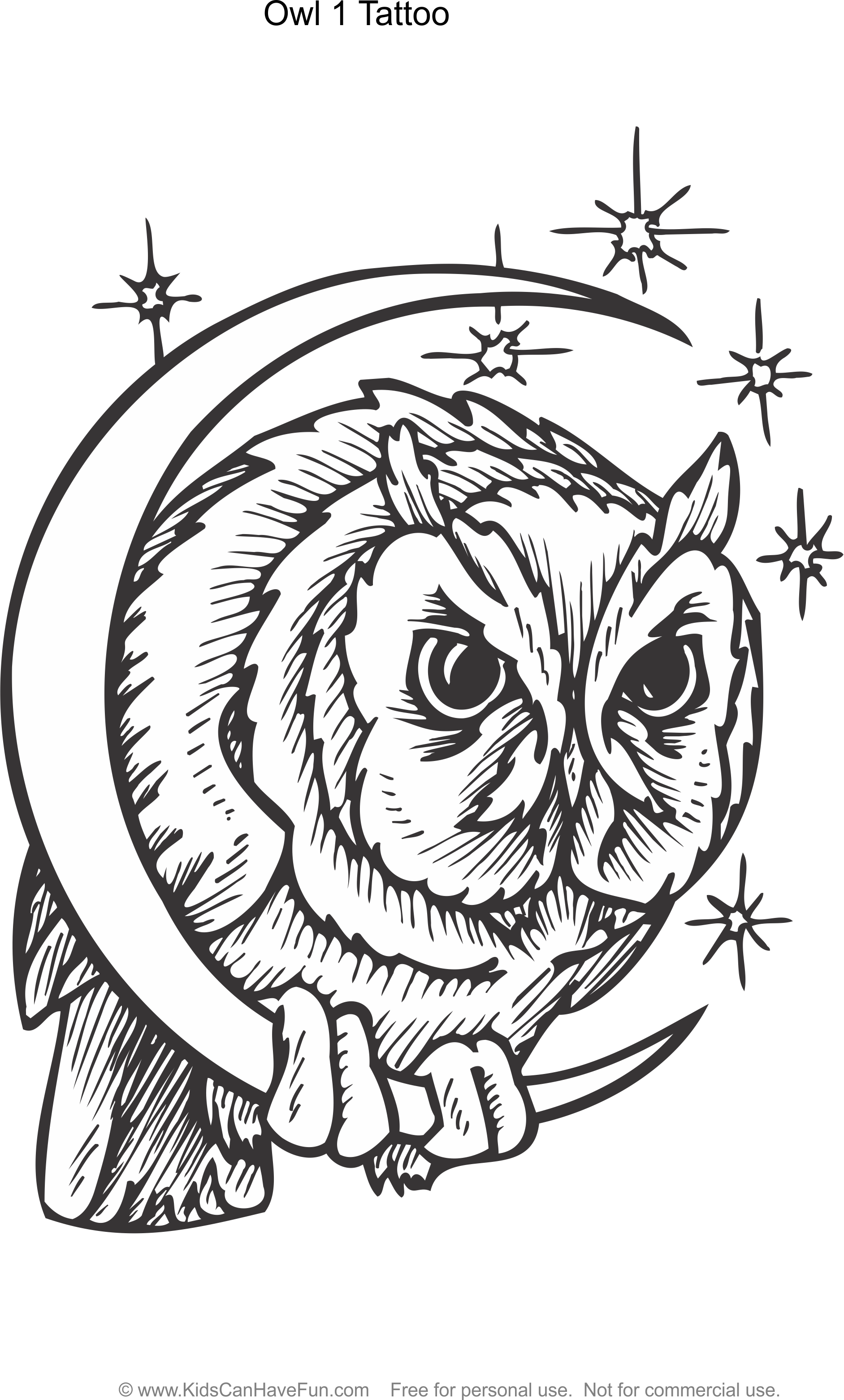 Tattoo Coloring Pages For Kids To Color
