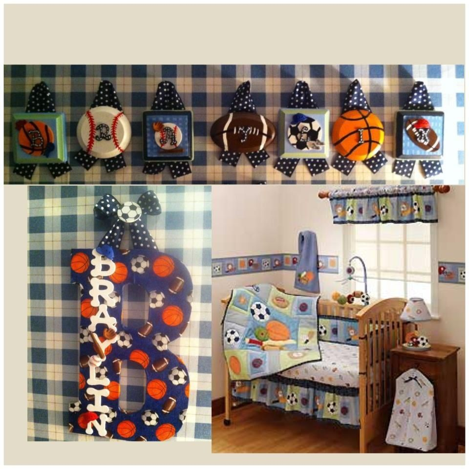 Matched To Sports Nursery Personalized Homemade Diy