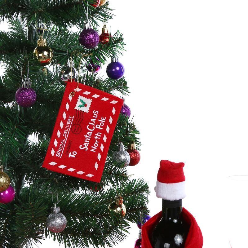 1pc Christmas Envelope Pendent Christmas tree Decoration X-mas