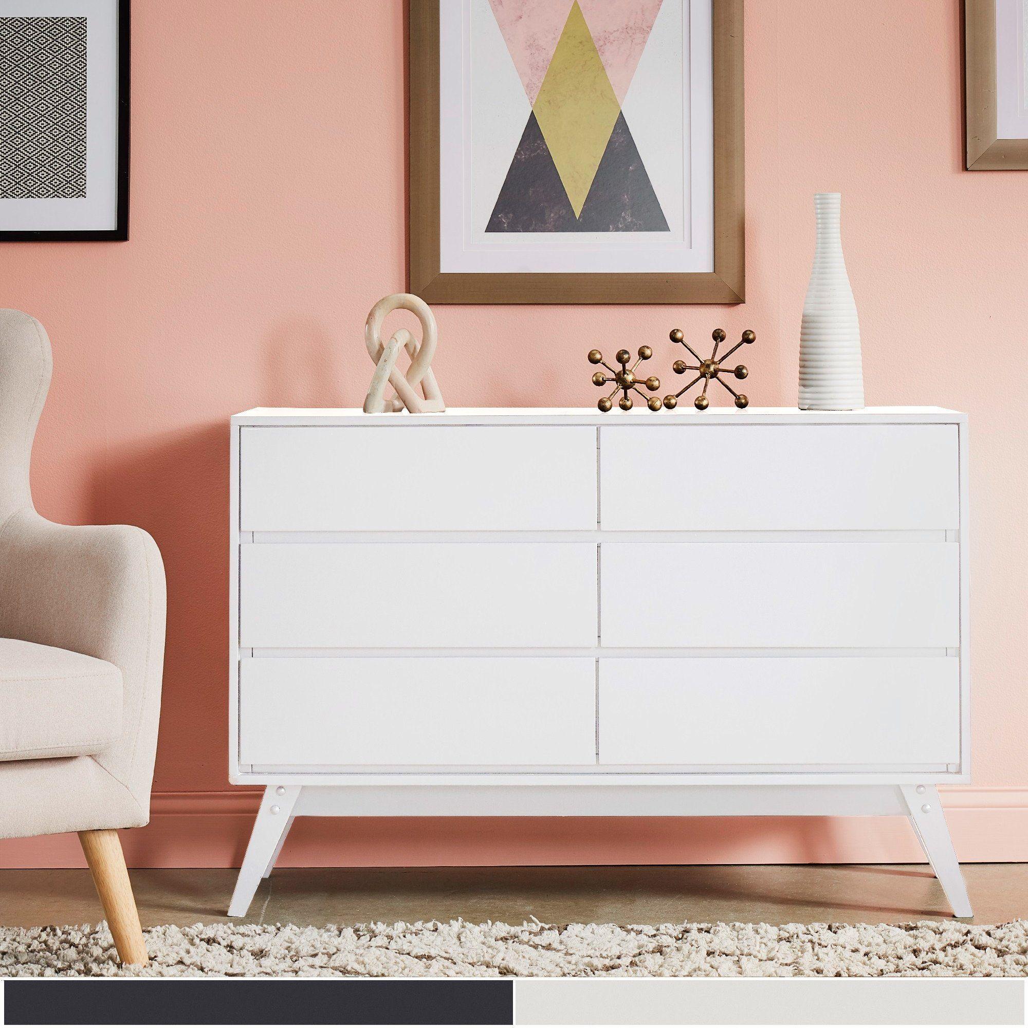 6 Drawer Mid Century Modern Dresser