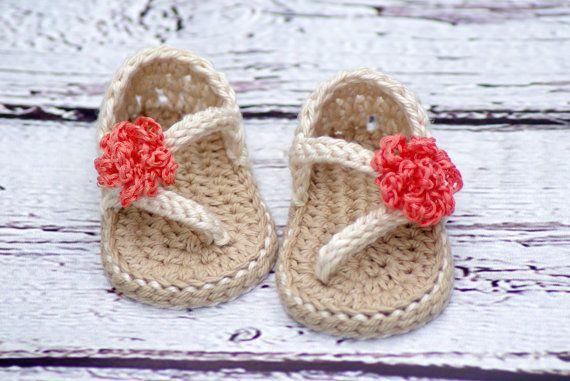 Häkeln Baby Muster Sandalen Nummer von TwoGirlsPatterns auf Etsy
