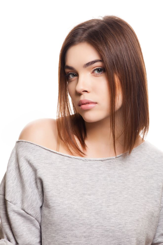 Long Bob Für Braune Haare Frisurideen Pinterest Hair Styles