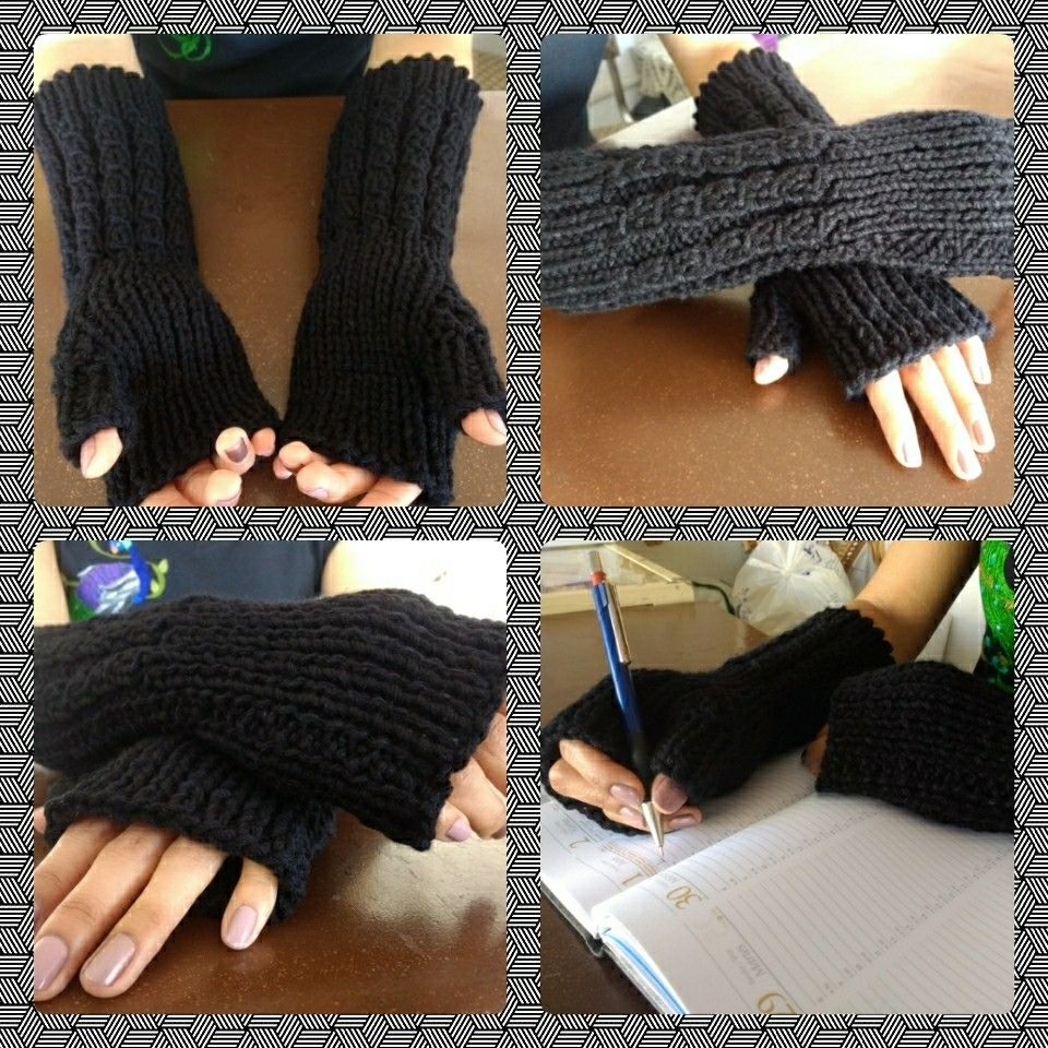 Mitones, guantes, mitones dos agujas, guantes de lana dos agujas ...