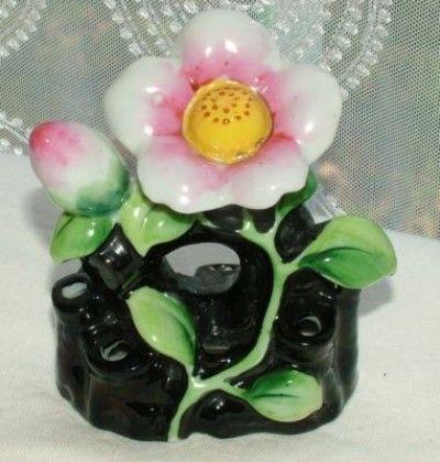 Vintage 1930's Japan Porcelain Lustreware Flower Frog (04/20/2011)