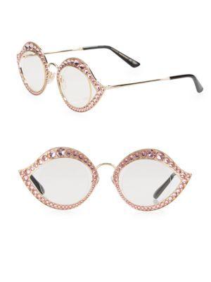 cec4e7ed9ae GUCCI Crystal-Studded Cat Eye Glasses.  gucci  glasses