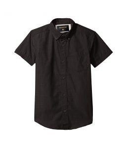 Quiksilver Kids Everyday Wilsden Short Sleeve Youth (Big Kids) (Tarmac) Boy's Short Sleeve Button Up