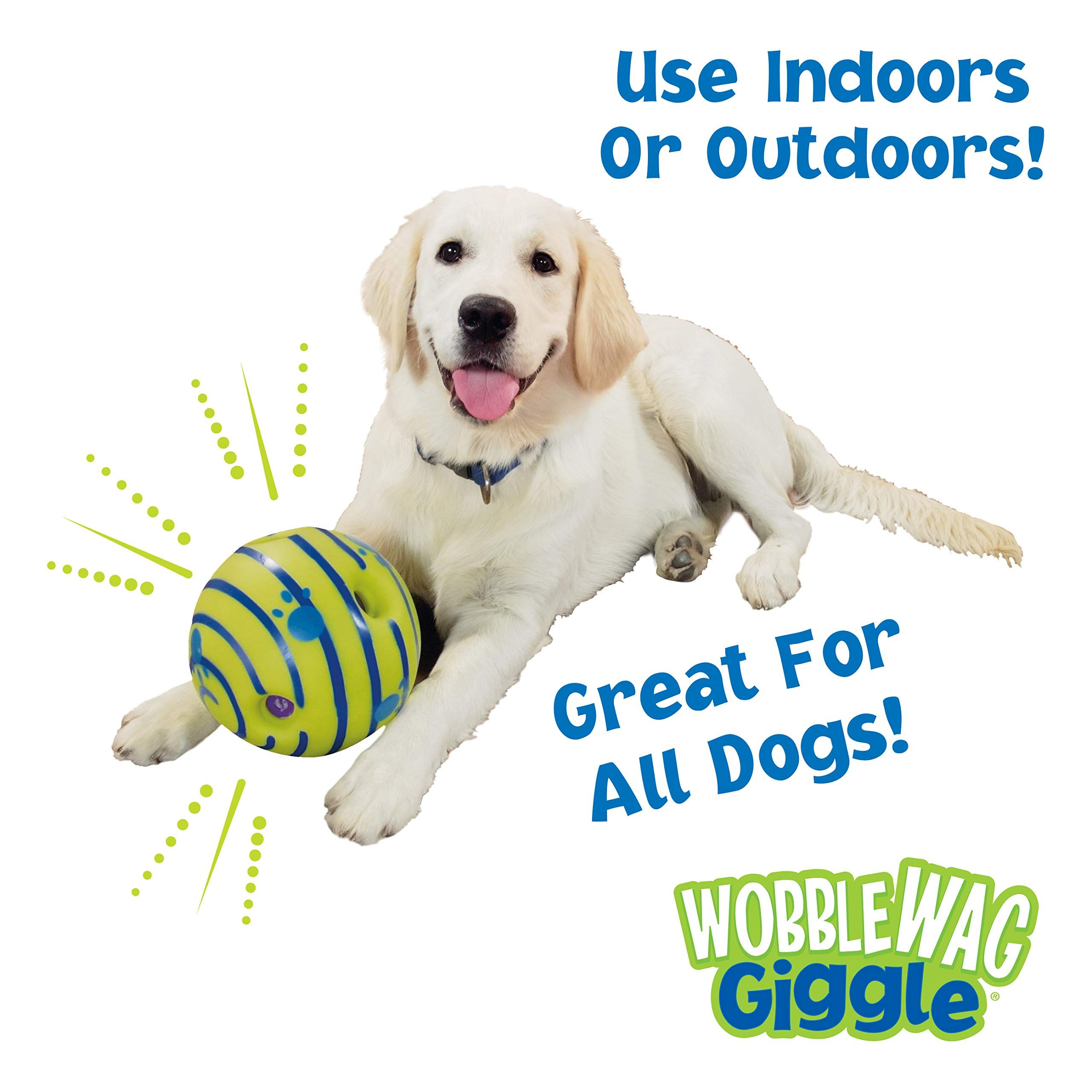 Allstar Innovations Wobble Wag Giggle Ball Dog Toy As Seen On Tv Wobble Wag Allstar Innovations With Images Interactive Dog Toys Dog Toys
