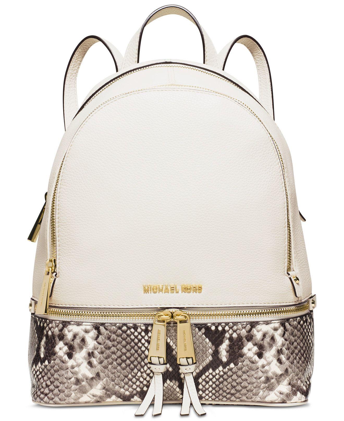 MICHAEL Michael Kors Rhea Zip Medium Backpack - Handbags & Accessories - Macy's