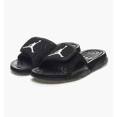 timeless design caa41 1ec3f Nike Jordan Hydro IV 4 Mens 705163-010 Black White Sandals Slides Size 8