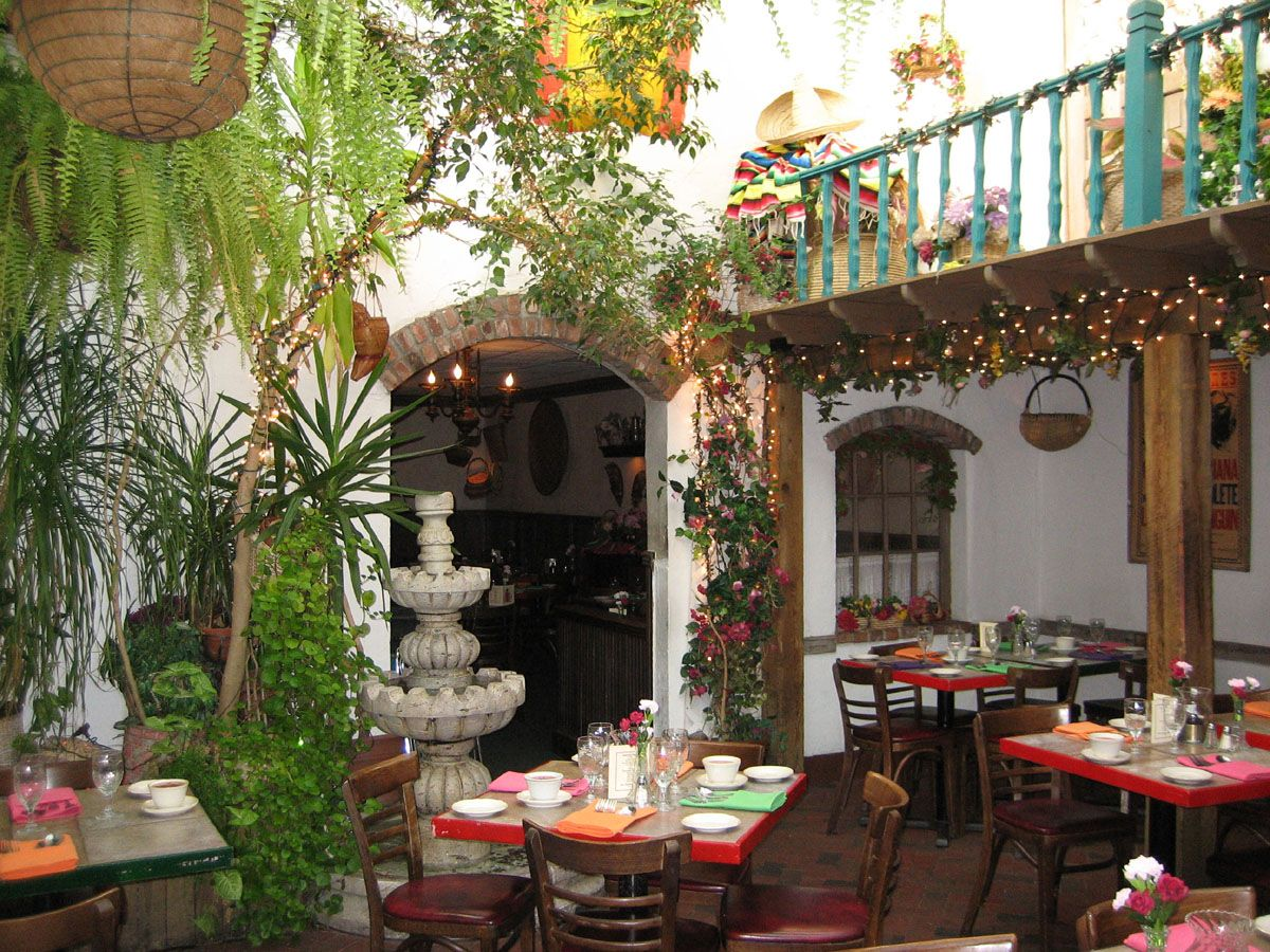 mexico - a glass roof over thismexican courtyard allows you to