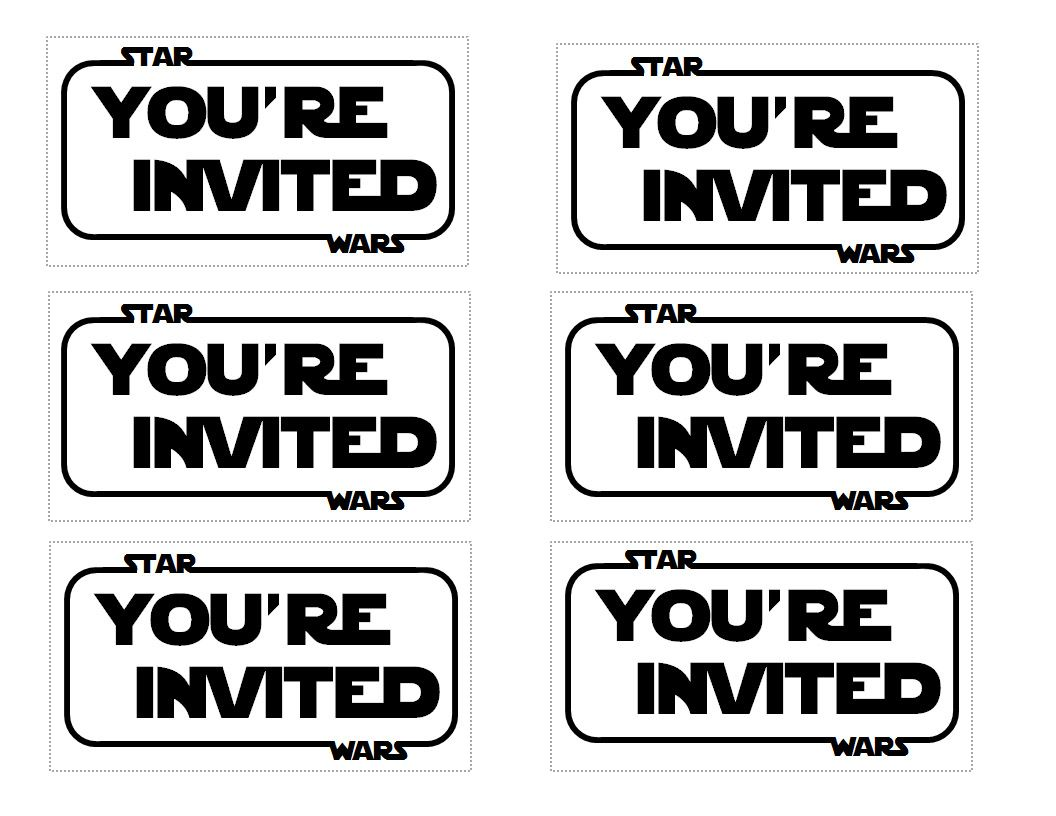 The Contemplative Creative Star Wars Party Invitation Modify – Star Wars Party Invitation