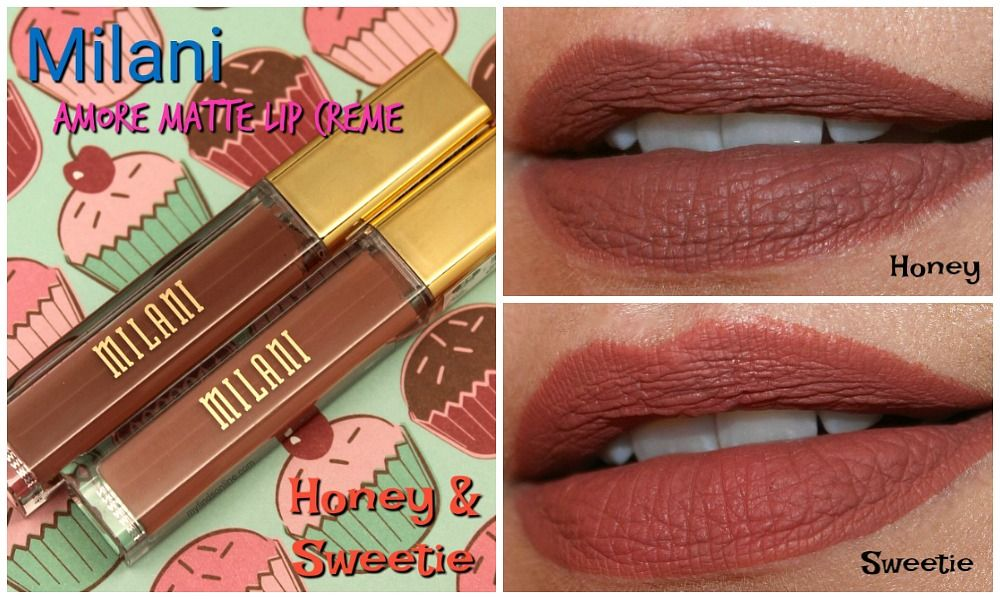 Milani Honey and Sweetie Amore Matte Lip Creme Pics and
