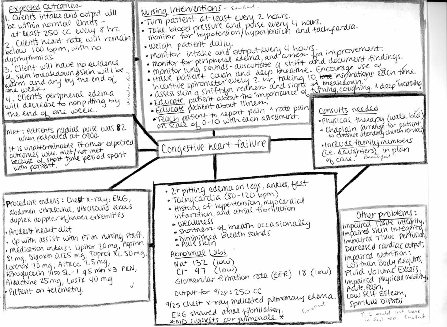 Nursing Diagnosis Concept Maps | Concept Map Concept Map Date ...