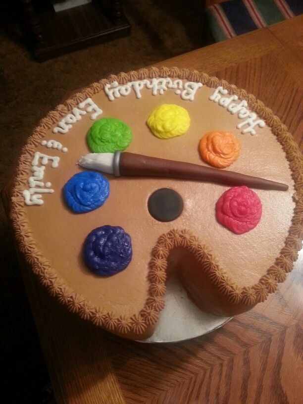 Painter Palette Cake My Creations Pinterest Cake Birthday