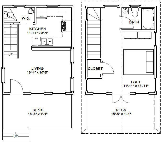16x20 House 16x20h2 569 Sq Ft Excellent Floor Plans Cabin Floor Plans Tiny House Floor Plans Loft Floor Plans
