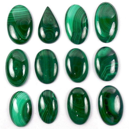 MALACHITE CABOCHON 12 MM ROUND CUT GREAT GREEN COLOR ALL NATURAL 1 PIECE