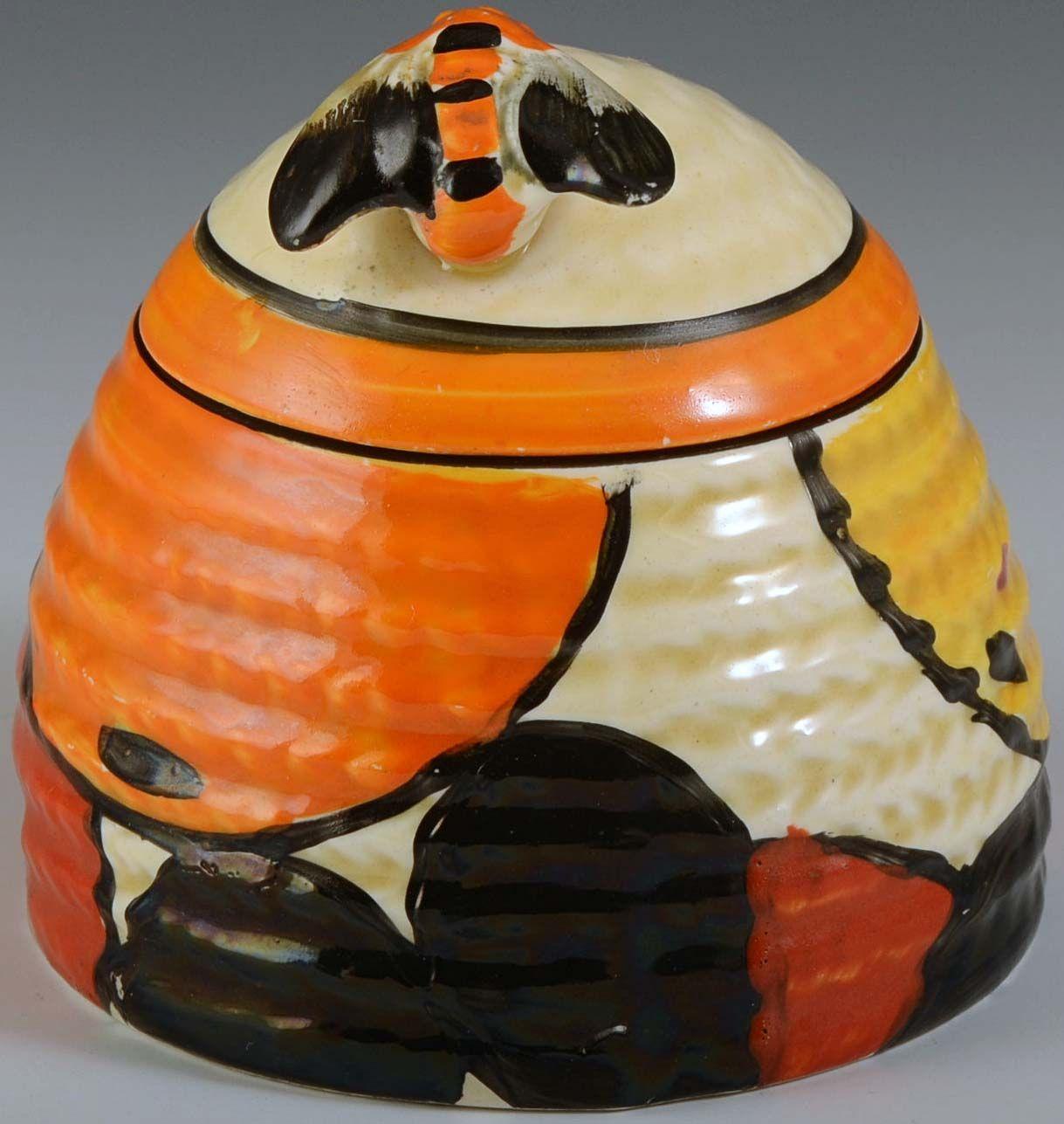 Art Déco - Pot à Miel 'Abeille' - Clarice Cliff - Vers 1931