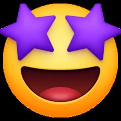 Grinning Face With Star Eyes Emoji In 2020 Eyes Emoji Star Eyes Emoji