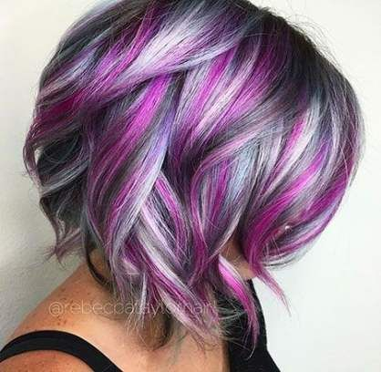 Hair Color Purple Blonde Short Hairstyles 54 Ideas Hair Styles Unicorn Hair Color Hair Color Crazy
