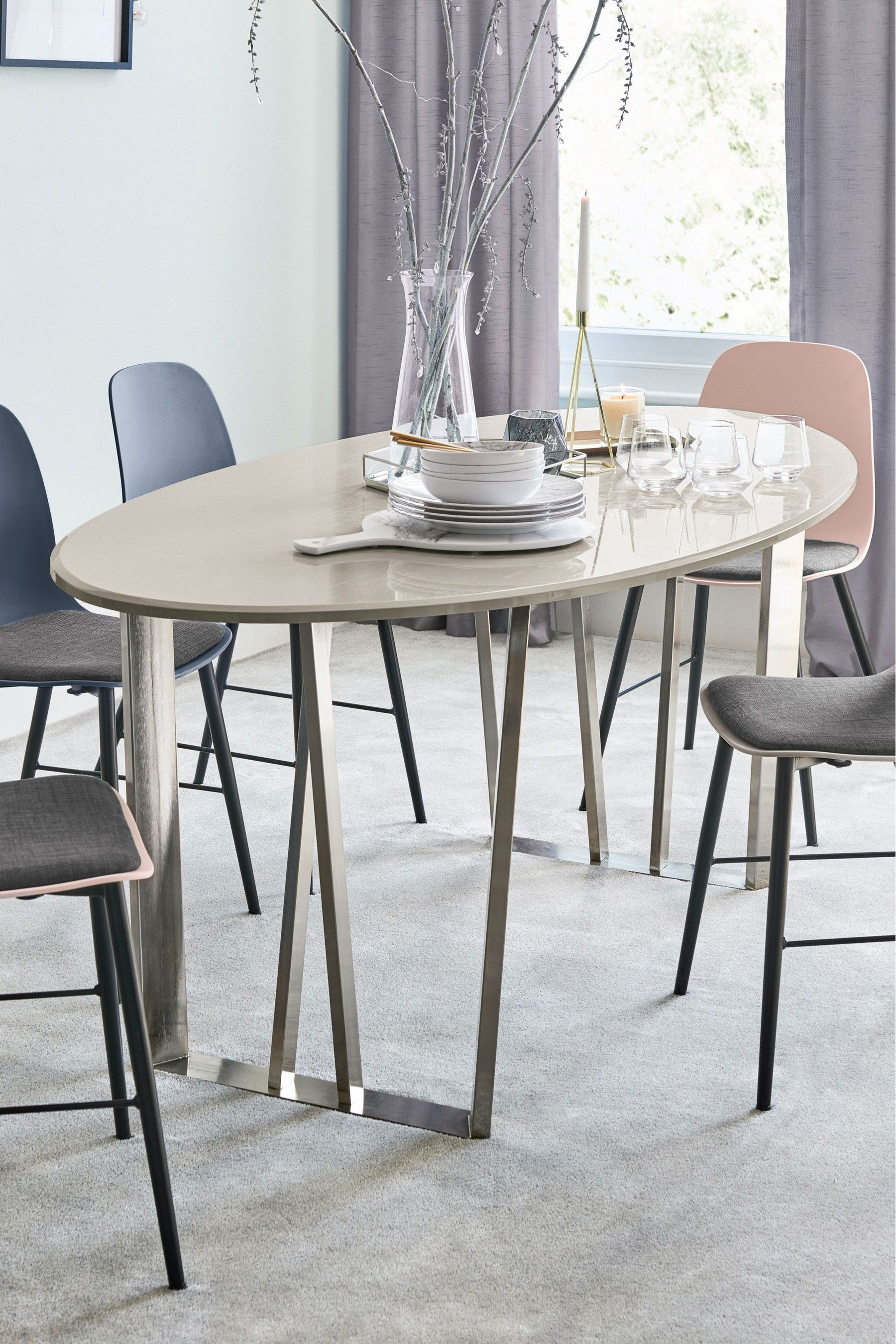 Buy Mode Gloss Oval Dining Table From The Next Uk Online Shop Oval Table Dining Dining Table Oak Dining Table