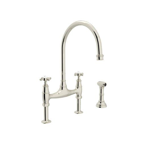 Rohl U4718Xpn2 Perrin And Rowe Deck Mount Bridge Kitchen Faucet Fascinating Rohl Kitchen Faucet Design Ideas