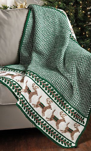 Reindeer Afghan Pattern From Crochet World Magazine