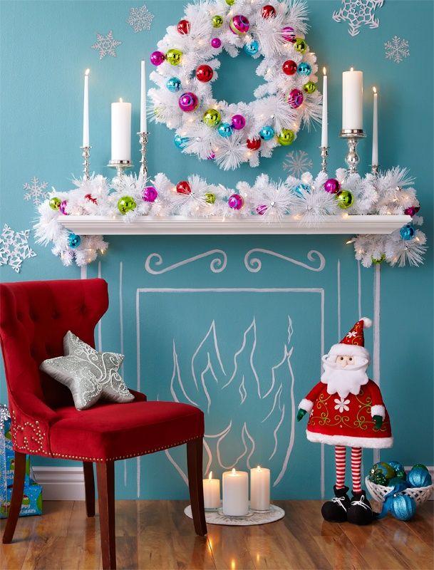 une fausse chemin e pour no l holidays pinterest noel deco noel and no l approche. Black Bedroom Furniture Sets. Home Design Ideas