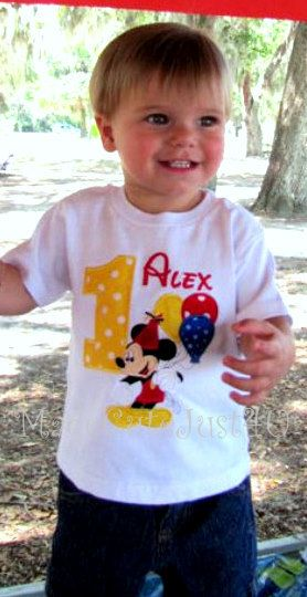 Mickey mouse birthday balloon personalized by madecutejust4u, $21.00
