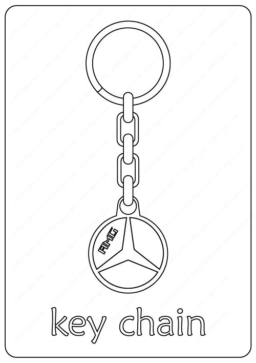 Free Printable Key Chain Coloring Pages Coloring Pages Free Printables Keychain