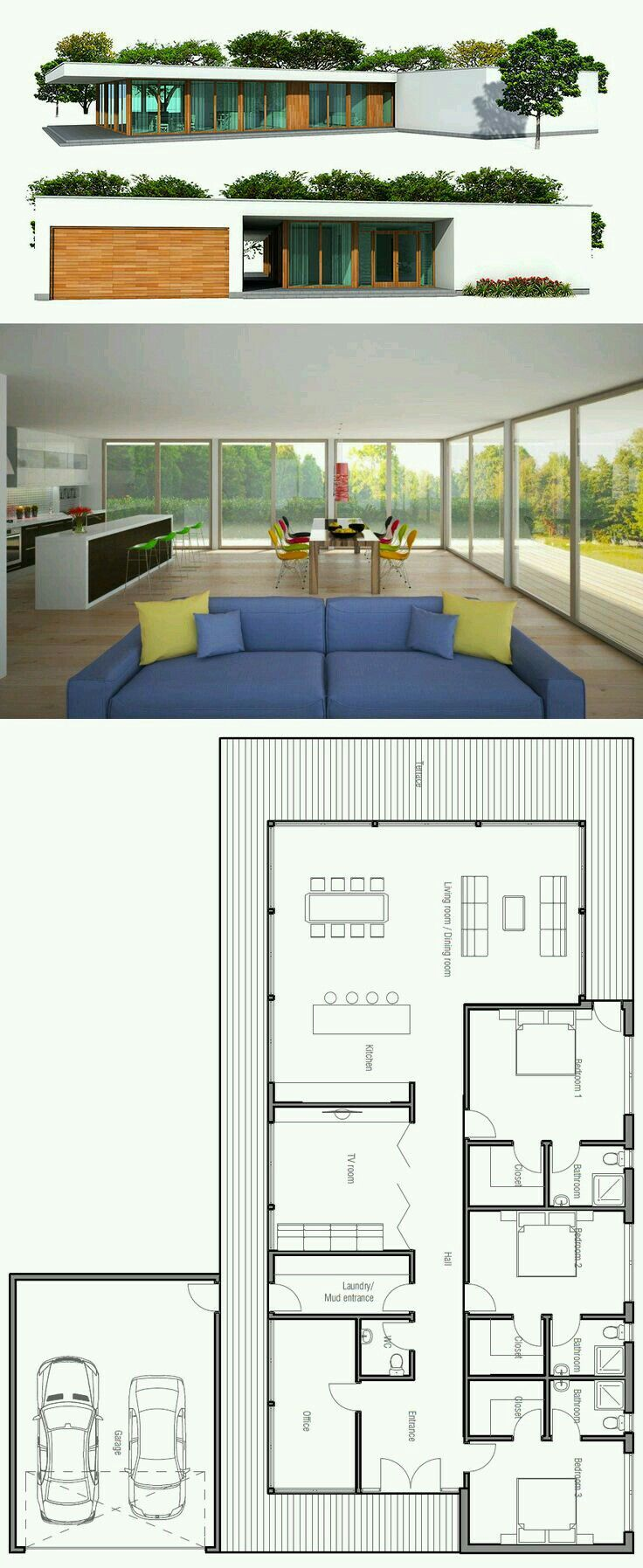Pin by Betsie Van Der Merwe on Small House Plans | Pinterest | Small ...